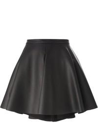 Falda línea a de cuero negra de Amen