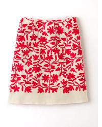 Falda línea a estampada roja
