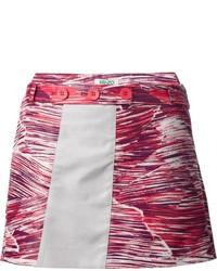 Falda línea a estampada roja de Kenzo