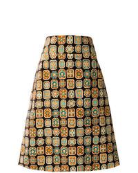 Falda línea a marrón claro de La Doublej