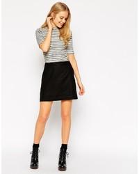 Falda línea a negra de Asos