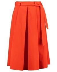 Falda Línea A Roja de Moschino