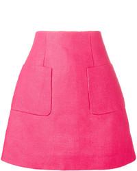Falda línea a rosa de DELPOZO