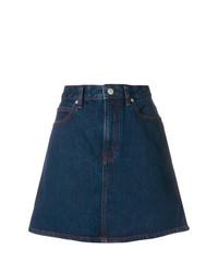 Falda línea a vaquera azul marino de Calvin Klein Jeans