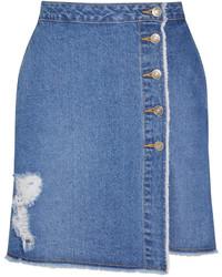 Falda Línea A Vaquera Azul de SteveJ & YoniP