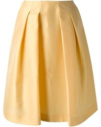 Falda midi amarilla original 1472811