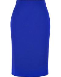 Falda midi azul de Alexander McQueen