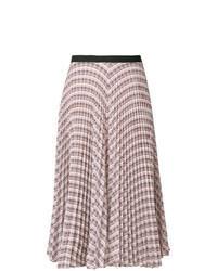 Falda midi con estampado geométrico en multicolor