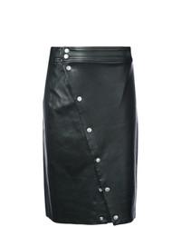 Falda midi de cuero negra de Rag & Bone