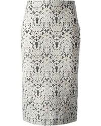 Falda midi de encaje blanca de Ermanno Scervino