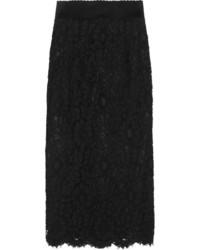 Falda midi de encaje negra de Dolce & Gabbana