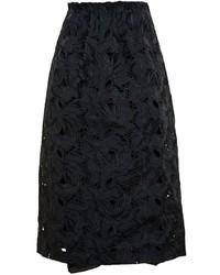Falda midi de encaje negra de No.21