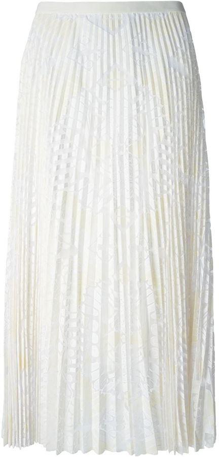 09dbadb77 Falda midi de encaje plisada blanca de Sea, €482   farfetch.com ...