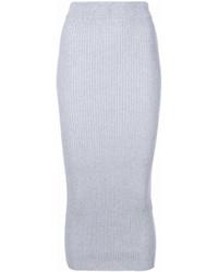 Falda midi de punto gris de Kenzo