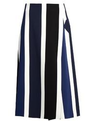 Falda midi de rayas verticales original 1475244