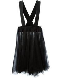 Falda midi de tul plisada negra de Comme des Garcons