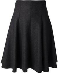 Falda midi en gris oscuro original 2145291