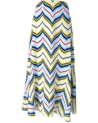 Falda midi en zig zag en multicolor de Kenzo