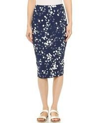 Falda midi estampada azul marino de Elizabeth and James