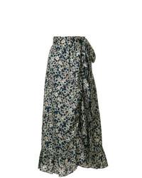 Falda Midi Estampada Azul Marino de Isabel Marant Etoile