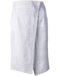 Falda midi gris de Jil Sander