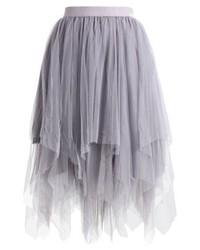Falda Midi Gris de New Look