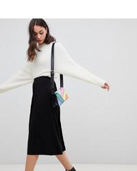 Falda midi negra de Asos Tall