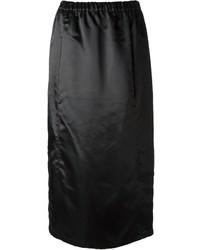 Falda midi negra de Comme des Garcons