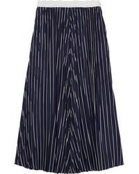 Falda midi plisada azul marino de Joseph