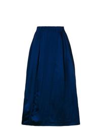 Falda midi plisada azul marino de Marni