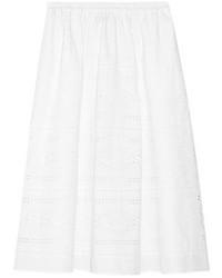 Falda midi plisada blanca de J.Crew