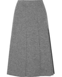 Falda midi plisada gris de Proenza Schouler