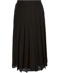 Falda midi plisada negra de Givenchy