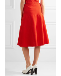 9439081e1 Falda midi plisada roja de Victoria Beckham, €1,066 | NET-A-PORTER ...