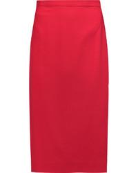 Falda midi roja original 1472199