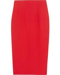 Falda midi roja de Alexander McQueen
