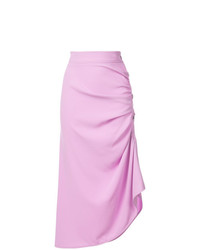 Falda midi rosada de Marni