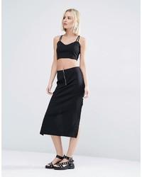 Falda negra de Weekday