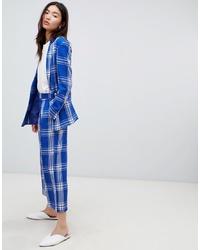 Falda pantalón a cuadros azul de ASOS DESIGN