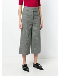 Falda pantalón a cuadros gris de Holland & Holland