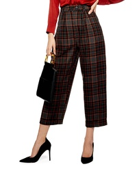 Falda pantalón a cuadros marrón