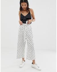 Falda pantalón a lunares en blanco y negro
