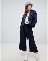 Falda pantalón azul marino de ASOS DESIGN