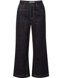 Falda pantalón azul marino de Fendi