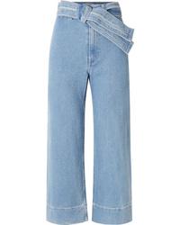 Falda pantalón azul de Apiece Apart