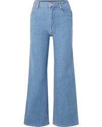 Falda pantalón azul de Eckhaus Latta