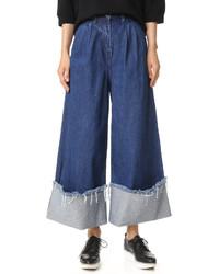 Falda pantalón azul de Edit
