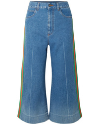 Falda pantalón azul de Gucci