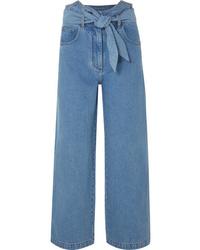 Falda pantalón azul de Nanushka