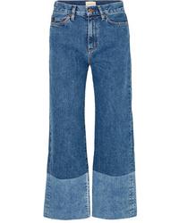 Falda pantalón azul de SIMON MILLE
